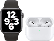 Apple Watch SE 40mm Space Gray Black Strap + Apple AirPods Pro with Wireless Charging Case