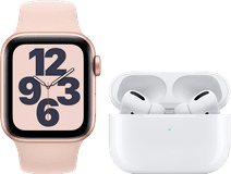 Apple Watch SE 40mm Rose Gold Pink Sand Strap + Apple AirPods Pro
