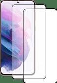 Azuri Tempered Glass Samsung Galaxy S21 Plus Screenprotector Zwart Duo Pack