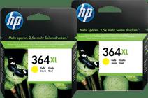 HP 364XL Cartridges Yellow Duo Pack
