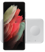Samsung Draadloze Oplader DUO Pad 9W Wit Draadloze oplader voor Samsung Galaxy Watch