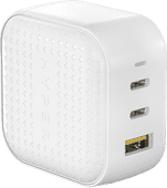Hyper Charger with 3 USB Ports 65W White