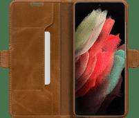 DBramante1928 Copenhagen Slim Samsung Galaxy S21 Ultra Book Case Leather Brown