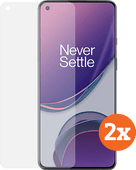 Azuri Tempered Glass OnePlus 8T Screen Protector Duo Pack