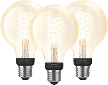 Philips Hue Filament Light White Globe E27 Bluetooth 3-pack