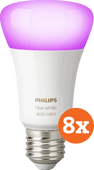 Philips Hue White and Color E27 Bluetooth 8-Pack