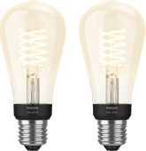 Philips Hue Filament Light White Edison E27 Bluetooth Duo Pack