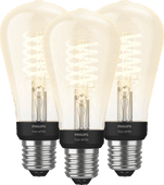 Philips Hue Filamentlamp White Edison E27 Bluetooth 3-Pack