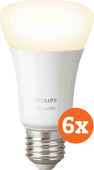 Philips Hue White E27 Bluetooth 6-Pack