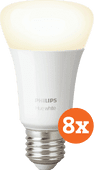 Philips Hue White E27 Bluetooth 8-Pack