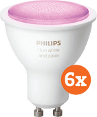 Philips Hue White and Color GU10 Bluetooth 6-pack