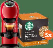 Krups Dolce Gusto Genio S Plus KP3405 Rood + Starbucks Caramel Macchiato