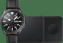Samsung Galaxy Watch3 Black 45mm + Samsung Wireless Charger DUO Pad 9W Black