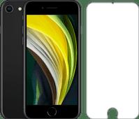 Refurbished iPhone SE 64GB Zwart + Azuri Rinox Case Friendly Screenprotector Glas