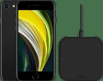 Refurbished iPhone SE 64GB Zwart + ZENS Draadloze Oplader 10W Zwart
