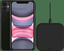 Refurbished iPhone 11 64 GB Zwart + ZENS Draadloze Oplader 10W Zwart