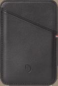 Decoded Leren Kaarthouder voor iPhone met MagSafe Zwart