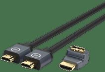 BlueBuilt HDMI 2.1 Kabel Nylon 3 Meter+ 90° Adapter