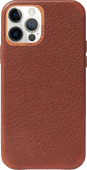 Decoded Apple iPhone 12 / 12 Pro Back Cover with MagSafe Magnet Leather Brown