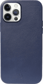 Decoded Apple iPhone 12 / 12 Pro Back Cover with MagSafe Magnet Leather Blue