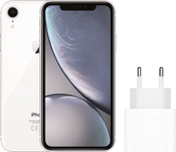 Apple iPhone Xr 128 GB Wit + Apple Usb C Oplader 20W