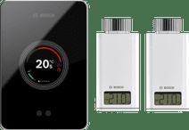 Bosch EasyControl CT200 zwart + 2x Bosch EasyControl Smart Radiator Thermostat RT10-RF