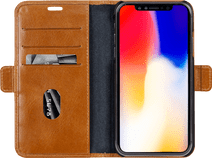 DBramante1928 Copenhagen Apple iPhone Xr Book Case Leather Brown