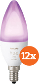 Philips Hue White and Color E14 Bluetooth 12-Pack