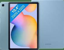 Samsung Galaxy Tab S6 Lite 128 GB Wifi Blauw + Samsung Book Case Blauw