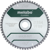 Metabo Multi Cut Zaagblad Universeel  254x30x1,8mm 60T
