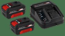 Einhell Power-X-Change 3,0 Ah accu (2x) + oplader Accu en acculader sets voor gereedschap