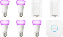 Philips Hue White & Colour Starter 5-Pack E27 + 2 dimmers