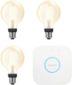 Philips Hue Filamentlamp White Globe E27 Bluetooth Starter 3-pack