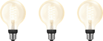 Philips Hue Filamentlamp White Globe E27 Bluetooth 3-pack