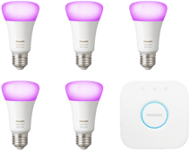 Philips Hue White & Color E27 Starter 5-pack + 1 Dimmer