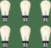 Philips Hue Filamentlamp White Edison E27 Bluetooth 6-Pack