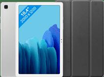 Samsung Galaxy Tab A7 64GB Wifi Zilver + Just in Case Book Case Zwart