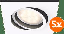 Philips Hue Milliskin Recessed Spot Light White Ambiance White - Square 5-pack