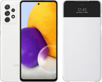 Samsung Galaxy A72 128 GB Wit + Samsung Smart S View Wallet Wit