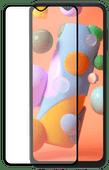 Azuri Tempered Glass Samsung Galaxy A12 Screenprotector Rinox Armor Zwart