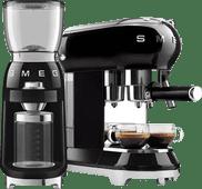 SMEG ECF01BLEU Zwart + Koffiemolen