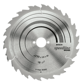 Bosch Speedline Saw Blade for Wood 190x30x2.6mm 12T