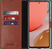 Valenta Gel Skin Samsung Galaxy A72 Book Case Bruin