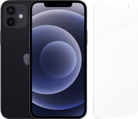 Apple iPhone 12 128GB Zwart + InvisibleShield Glass Elite Screenprotector