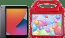 Apple iPad (2020) 128 GB Wifi Space Gray + Kinderhoes Rood