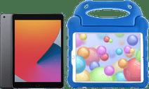 Apple iPad (2020) 128 GB Wifi Space Gray + Kinderhoes Blauw