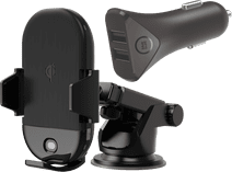 Veripart Universele Telefoonhouder met Draadloos Opladen + BlueBuilt Autolader
