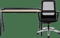 Schaffenburg Domestico Desk 120x60 Black/Oak + Interstuhl Desk Chair