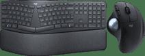 Logitech K860 + Logitech M575 ERGO Trackball Mouse