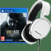 Resident Evil Village PS4 + SteelSeries Arctis 3 2019 White